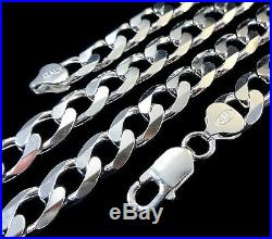 10MM Solid 925 Sterling Silver Italian CUBAN CURB Chain Necklace Made in Italy