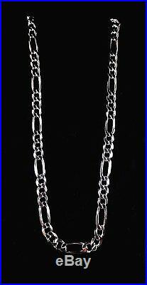 10MM Wide Solid 925 Sterling Silver Men's FIGARO Chain Necklace Made in Italy