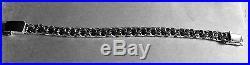 11MM 925 STERLING SILVER MEN'S SOLID double CUBAN LINK BRACELET LENGTH8,8.5.9