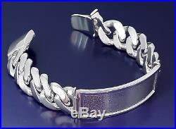 15 mm Solid Heavy Sterling Silver Miami Cuban Link ID Bracelet 8.5 Inch 85 Grams