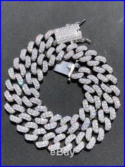 e58c1a8d3a523 15mm Mens Miami Cuban Link Chain Real Solid 925 Sterling Silver ...