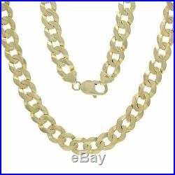 18k Yellow Gold Finish Curb Cuban Link Chain Solid Necklace 22 9mm 54-56 gram