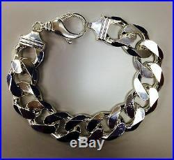 19mm Men's 925 Sterling Silver Solid Cuban Link Bracelet 8.5, 9, 9.5 & 10