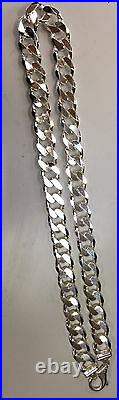 19mm Men's 925 Sterling Silver Solid Cuban Link Chain Necklace24-36free Shping