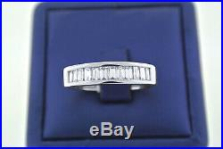 2.00Ct Solid 14K White Gold Fn D/VVS1 Diamond Engagement Wedding Men's Ring