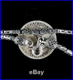 2.5MM Handmade Solid 925 Sterling Silver Balinese BYZANTINE Chain/Necklace Bali