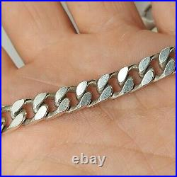 20 inch heavy mens curb necklace chain solid sterling silver hallmarked T85.82