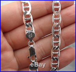 24 8mm Mariner Anchor Gucci Link Necklace Chain Real Solid 925 Sterling Silver