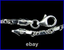 3.2MM Solid 925 Sterling Silver Italian HESHE Chain Necklace Made In Italy
