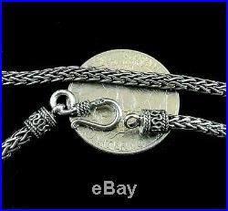 3MM Handmade Solid 925 Sterling Silver Balinese FOXTAIL Chain/Necklace Bali