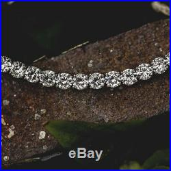 5.00 CT Round Diamond Solid 14k White Gold Over Men's Tennis Fashion Bracelet 8