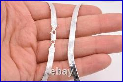 5mm Flexible Herringbone Chain Necklace Real Solid Sterling Silver 925 Italy
