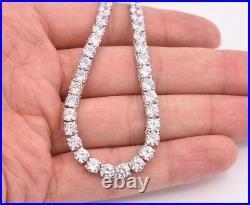 5mm Round Cut CZ Tennis Chain Necklace Real Solid Sterling Silver ANTI TARNISH