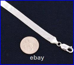 7mm Flexible Herringbone Chain Necklace Real Solid Sterling Silver 925 Italy