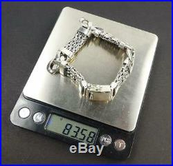 83 Grams Heavy Solid 925 Sterling Silver Flexible Chain 8 Men Bracelet Classic