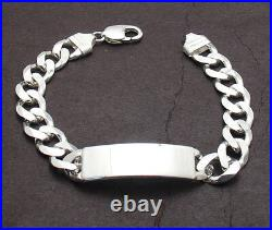 9 Mens 11mm Solid Miami Cuban Curb Chain ID Bracelet Real 925 Sterling Silver