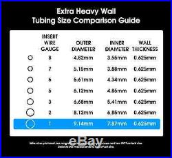 925 SOLID STERLING Silver Tubing 1 Gauge 1 FOOT 100% Recycled Extra Heavy Wall