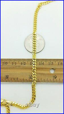 925 Solid Sterling Silver 14k Gold Miami Cuban Link Chain 4mm Italy