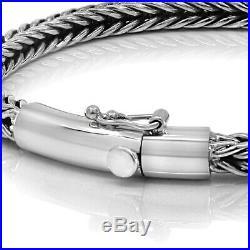 925 Solid Sterling Silver Bracelet Thin Bangle Men Women Size 7 8.5 9 VY Jewelry