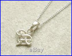 925 Solid Sterling Silver Celtic Knot Small Heart Pendant Necklace With Chain