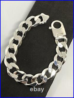 925 Sterling Silver Solid Chunky Men 13mm CURB BRACELET 8.5 BRAND NEW