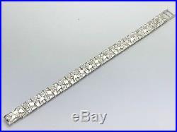 925 Sterling Silver Solid Nugget Bracelet Adjustable Link 7 12.5mm 25 grams