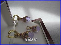 Alexandrite Earrings & Pendant Set Handmade Russian Solid Sterling Silver 925
