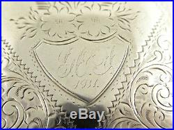 Antique 1910 Solid Sterling Silver Cigarette Case made by Joseph Gloster Ltd