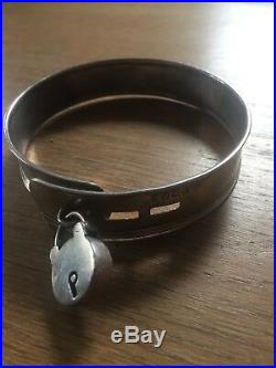 Antique Georgian SOLID STERLING SILVER Dog Collar