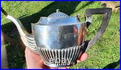 Antique Solid Sterling Silver Bachelors Tea Set Teapot Sugar Bowl Milk Jug 1893