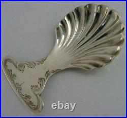 Antique Solid Sterling Silver Caddy Spoon 1923 English Superb