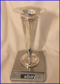 Art Deco Hallmarked 1921 A & J Zimmerman Solid Sterling Silver Vase 223g