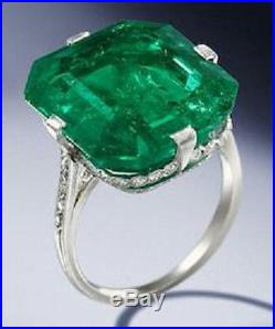 Asscher solitaire ring Party Solid 925 Sterling silver cz handmade Jewelry best
