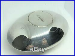 Auth GUCCI Luxury Solid Sterling Silver 925 Table Lighter Saucer-Shape Silver