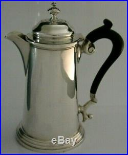 BEAUTIFUL ENGLISH SOLID STERLING SILVER COFFEE HOT WATER POT 1915 ANTIQUE 306g