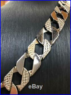 """16mm NEW BOMBE 925 SOLID Sterling Silver HEAVY Diamond Cut BRACELET 8.5/"""""""