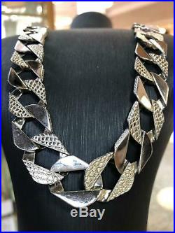 BOMBE Chain 925 SOLID Sterling Silver HEAVY Diamond Cut Necklace 30 16mm NEW