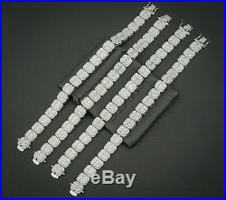 Baguette Tennis Bracelet Solid 925 Sterling Silver