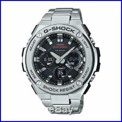 Casio G-Shock GSTS110D-1A G-Steel Tough-Solar Ana-Digital Metal Blk Watch