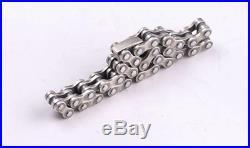 Custom 925 Solid Sterling Silver Heavy Thick Biker Bicycle Bike Chain Bracelet
