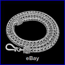 DESIGNER BYZANTINE Chain Solid 925 Sterling Silver 20 Inch 58 gm 5 mm
