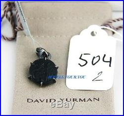 David Yurman Solid Sterling Silver Petrus Griffin Amulet Onyx Pendant New # 504