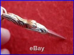 David Yurman Sterling Silver 18K SOLID GOLD Waves Dagger Amulet Pendant $700+