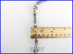 EFFY D' Oro Bracelet Solid 925 Sterling Silver 14K Gold Diamond AS IS 7.5