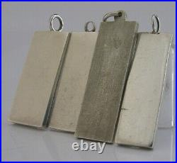 FOUR ENGLISH SOLID ENGLISH STERLING SILVER INGOTS BARS 1976-77 92g
