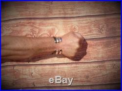 Gents Mens Vintage Matte Look Solid 925 Sterling Silver Torque Bangle Bracelet