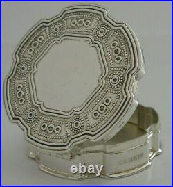 Good Soze English Solid Sterling Silver Trinket Pill Box 1996
