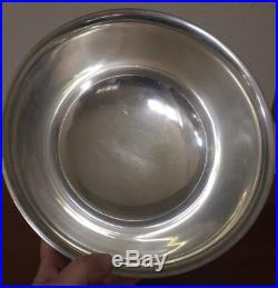 Gorham. 925 Solid Sterling Silver Centerpiece Punch Bowl Heavy Large 10 1026g