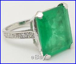 Green Emerald Ring Solid 925 Sterling Silver Party wear Luxury Handmade Jewelry