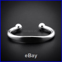 925 Sterling Silver Solid ID Torque Bangle Bracelet Circumference  21 cm  8  /& 4 mm Thick